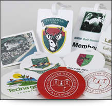 The Boston value range personalised golf bag tags