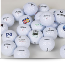 Range of personalised golf balls