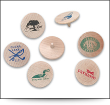 Branded Wooden Golf Ball Markers
