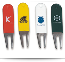 Personalised, printed, rubber-coated golf pitchfork
