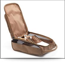 suede golf shoe bag