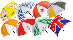 Customised golf umbrellas for any type of event - all expertly branded with your logo.